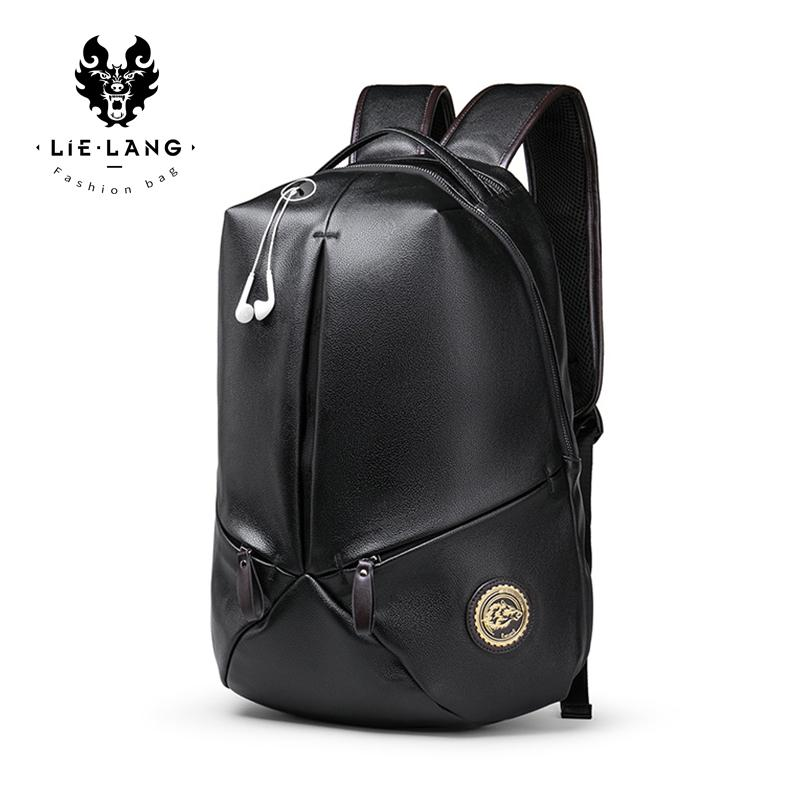 ... 2018 Fashion MenS Leather Backpack Luxury Designer Youth Cool  BackpacWaterproof Laptop Bags Geometric Backpack Travel Bags ... d568af7eeb