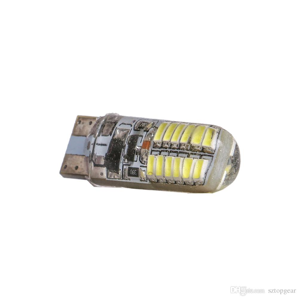T10 24 SMD 3014 LED 194 168 W5W Car Wedge Bulb Strobe Lamp Car styling Instrument Light White 12V