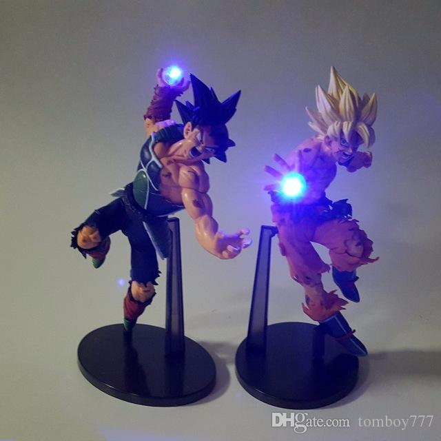 Figuras de acción Dragon Ball Z Juguetes LED Nightlight Son Goku Negro Vegeta Gohan Anime Decorativo Led Iluminación niños regalos juguetes calientes