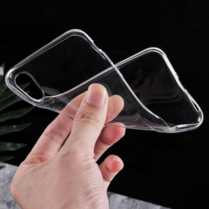 رقيقة جدا ل Iphone 7 8 Plus Iphone 6S Plus Case S8 S7 Edge S6 Edge Plus Crystal Clear TPU سيليكون Soft Cover