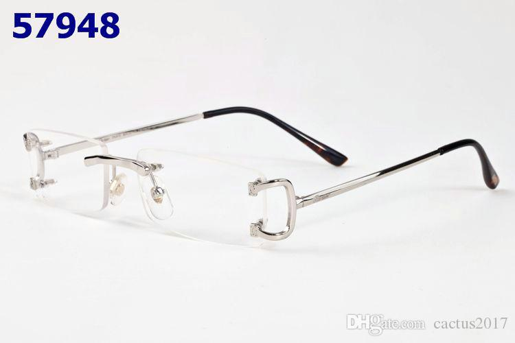 Rectangle rimless Buffalo Horn unisex sunglasses frameless small Rectangular Buffalo Horn glasses metal frame luxury designer mirrored