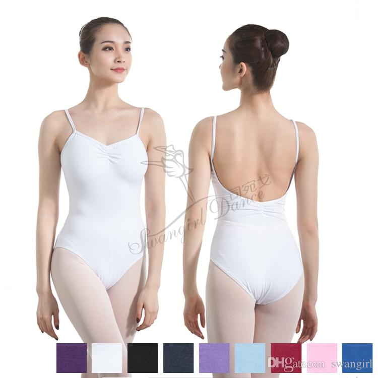 945717f860 2019 Adult Camisole Ballet Leotards For Women Gymnastics Leotard Girls Sexy Dance  Leotard Ballet Bodysuit Dance Clothes WhiteCS0198 From Swangirl