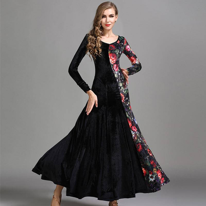 e36b6edcc0f Compre es Estándar Vestidos De Baile Waltz Ballroom Dance Dress Mujeres  Trajes De Baile Flamenco Práctica Dress Wear A  99.88 Del Yakima