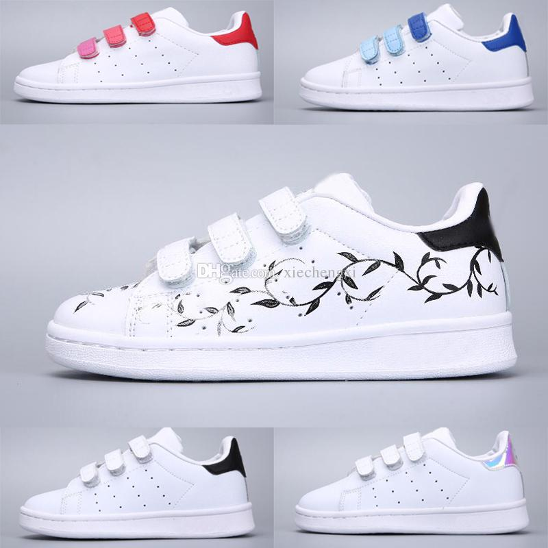 e8dc5ccda42f Adidas Stan Smith Superstar Primavera otoño niños zapatos moda niña causal  zapatos Super Star Boy zapatillas de deporte deportivas niños zapatos Junta  ...