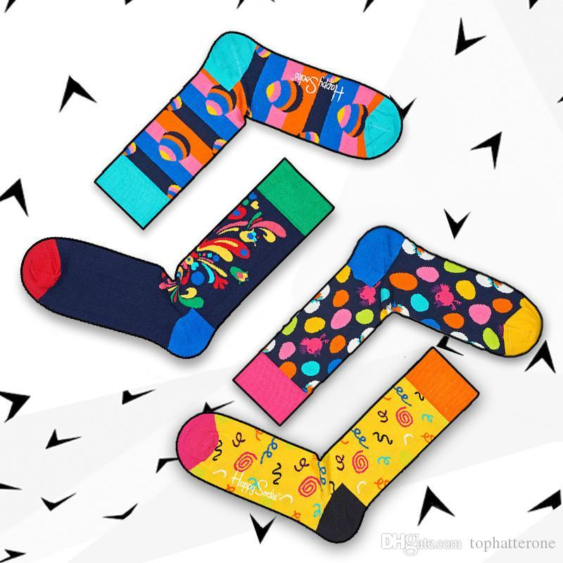 Vivid Folk Skateboard Sport Stockings Outdoor Knee Warmers Stockings Contrast Color Unisex Middle Towel Socks Tide Brand Socks