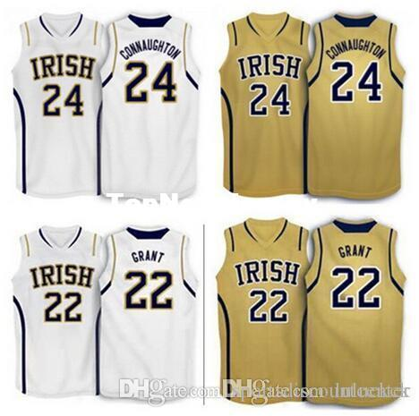 new concept 3df43 df6a1 Factory Outlet #24 Pat Connaughton #22 Jerian grant Notre Dame Fighting  Irish basketball Jersey Stitched Customized Any Name And Number