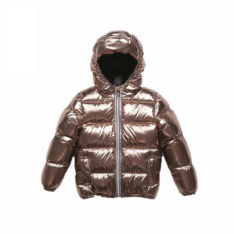 8f6ca813221a White Duck Down Boy Girl Winter Gold Down Jacket Coat Outerwear ...
