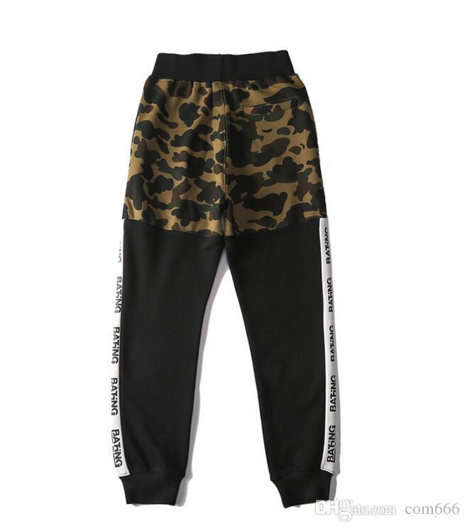 2018 automne et hiver nouvelle marque de marée plus pantalon décontracté camouflage velours jeunes lâches sport longs hommes et pantalons pour femmes