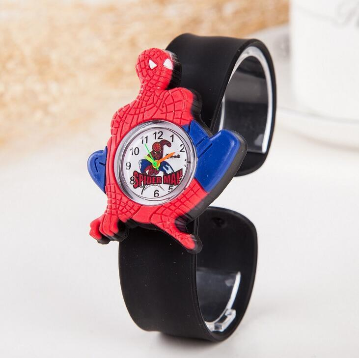 Cheap Price Spiderman Watches Children Cartoon Watch Kids Cool Slap Rubber Strap Quartz Watch Clock Hours Gift Relojes Relogio 2019 New Fashion Style Online Watches