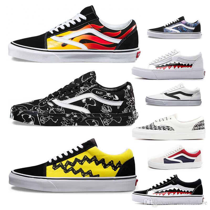 f901eafa7dee New Arrival Old Skool Flame Pack Low Yacht Club Shark Tooth Canvas Shoes  Mens Designer Casual Shoes Running Sports Sneakers 36 44 Running Shoes Shoes  Online ...