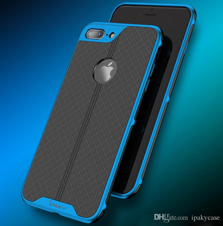 IPaky Case For IPhone 7 8 Plus Electroplate PC Frame+TPU Back Cover Drop  Proof Antiskid Thin 2 In 1 Cases With Package In Stock Ballistic Cell Phone  Cases ... 96561c1ea1e17