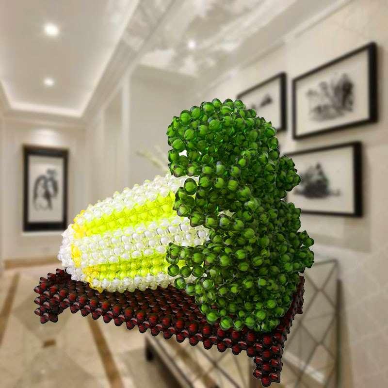 Новые продажи ручной работы бисером нефрит капуста закончены украшения домашнего интерьера офис талисман украшения