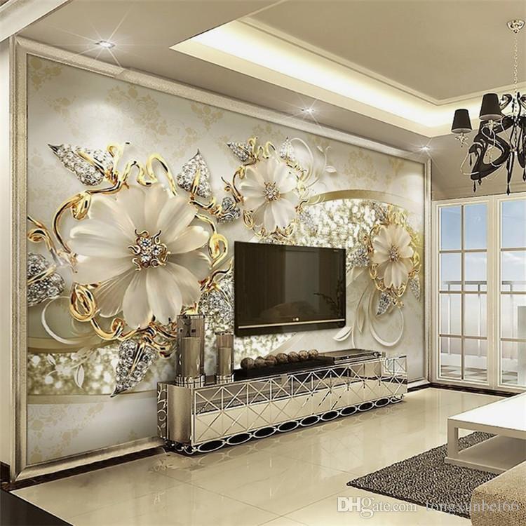 papel de parede 3d стерео гостиная диван телевизор фон обои спальня Спальня нетканые обои большие фрески