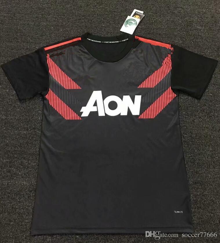 18 19 Manchester United Camiseta De Futbol De Entrenamiento Uniforme 78f2858293ed2