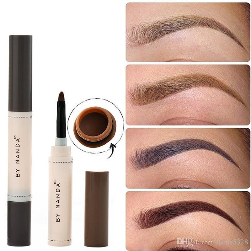 2018 Fashion Professional Eye Brow Dye Cream Pencil Long Lasting
