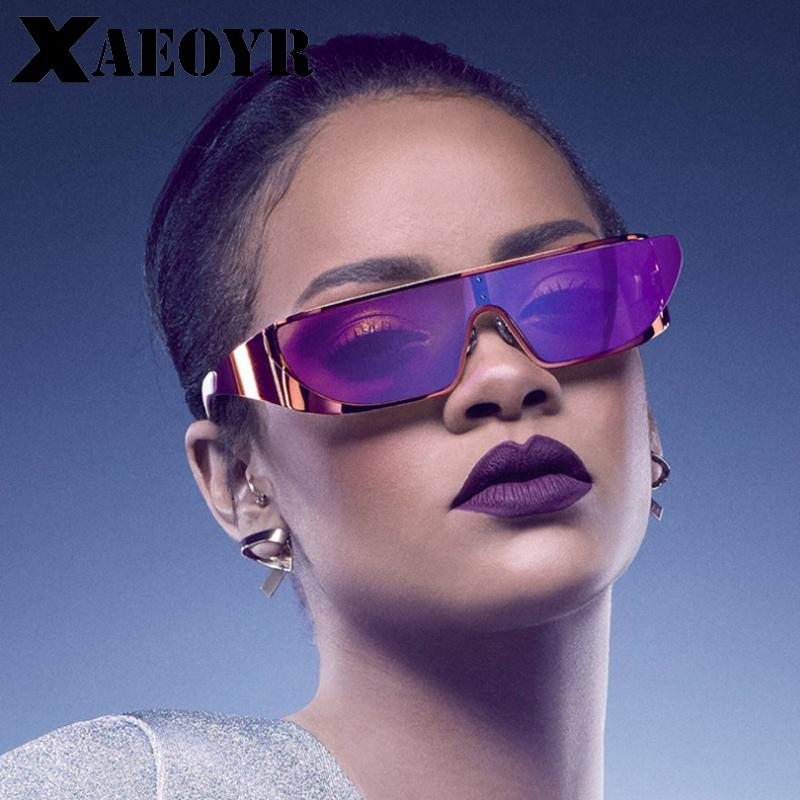 987aff444b4 New Women Rihanna Sunglasses Luxury Woman Cool Pieces Futuristic Glasses  Ladies Goggles Colored Eyeglasses 2018 Fashion Eyewear Cycling Sunglasses  Running ...