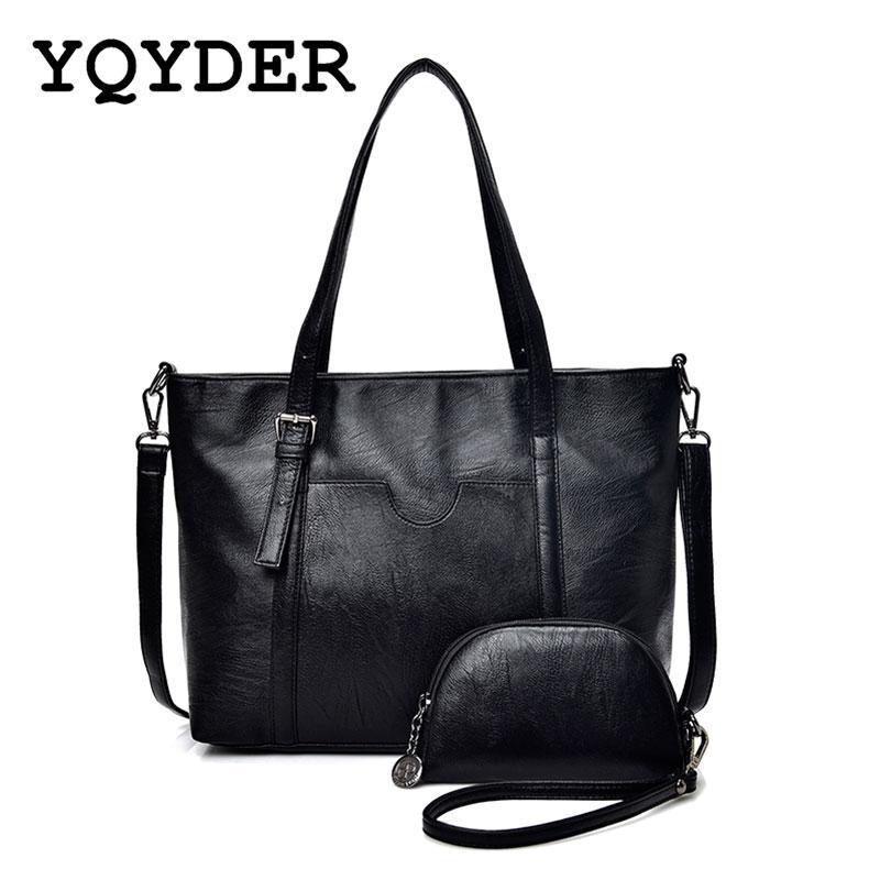 bfad518f51 YQYDER High Quality Women Bag PU Leather Handbags Top Handle Bags Tote  Fashion Shoulder Bags Designer Large Capacity Fiorelli Handbags Ladies  Purses From ...