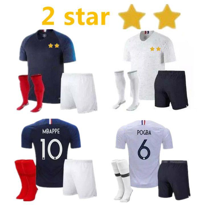 397e78243 2019 Adult Kit GRIEZMANN MBAPPE POGBA Soccer Jerseys 2018 World Cup ...