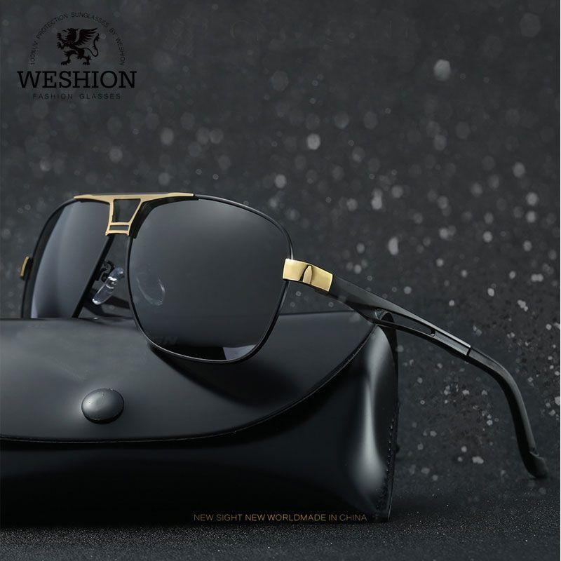 Compre Weshion Vintage 2018 Gafas De Sol Hombres Piloto Polarizado Clásico  Tonos Aleación De Aluminio Marco Gafas De Sol Nuevas Gafas De Sol Feminino  A ... 2f17f31c0632