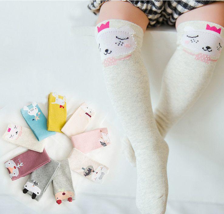 d6b8e6e604 Children Polka Dots Socks Fashion New Baby Cute Cat Rabbit Pig ...
