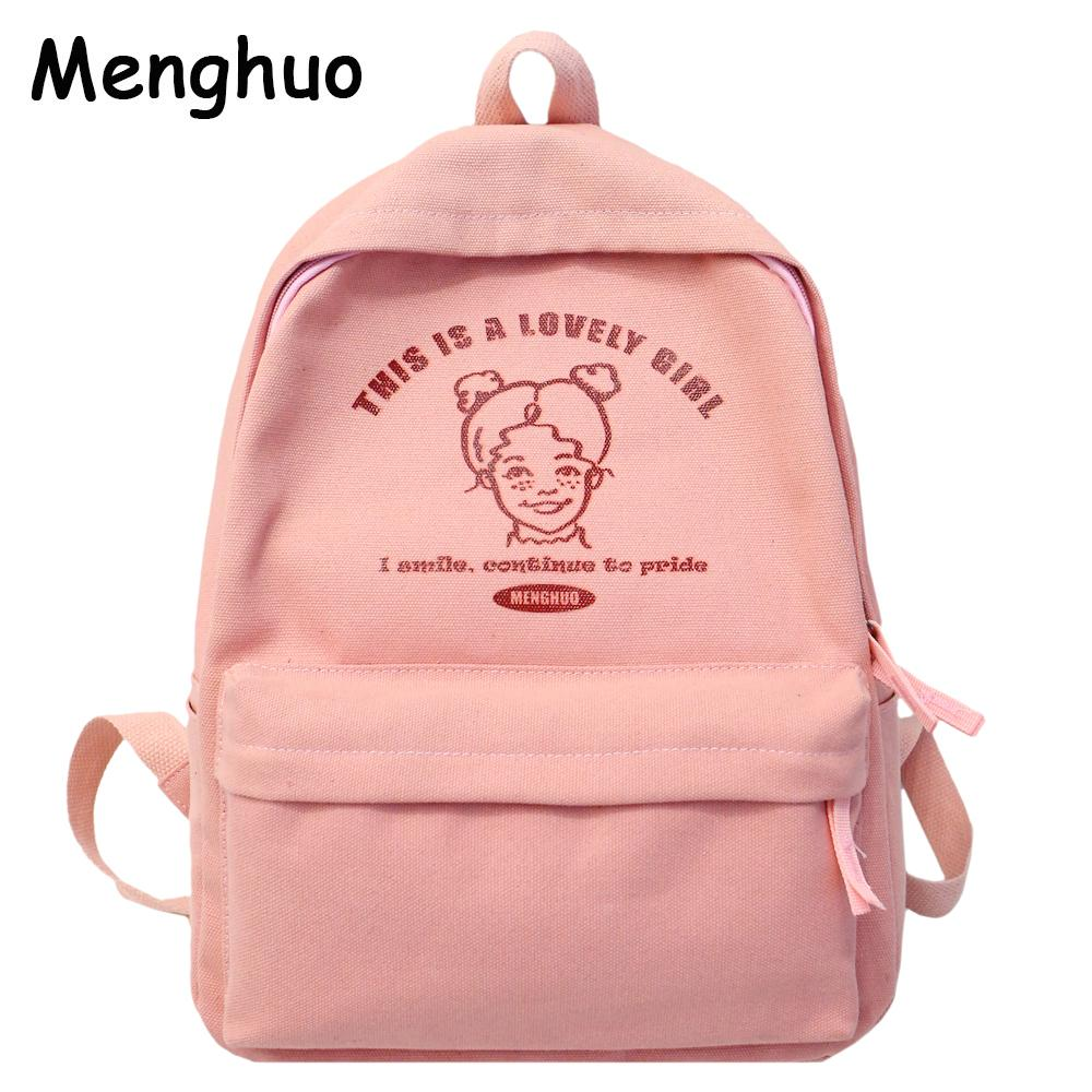 c25c2d4a5807 Menghuo Preppy Style Women Backpack For School Teenager Girls School Bag  Ladies Canvas Fabric Backpack Female Bookbag Mochilas Kids Backpacks Dakine  ...