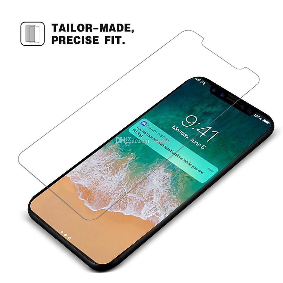 Для нового iPhone 11 X XR XS Макс Закаленное стекло экрана протектор для iPhone 7 8 Plus LG Stylo 5 MOTO G7 Play Мощность 0.26mm 2.5D 9Н В пакете