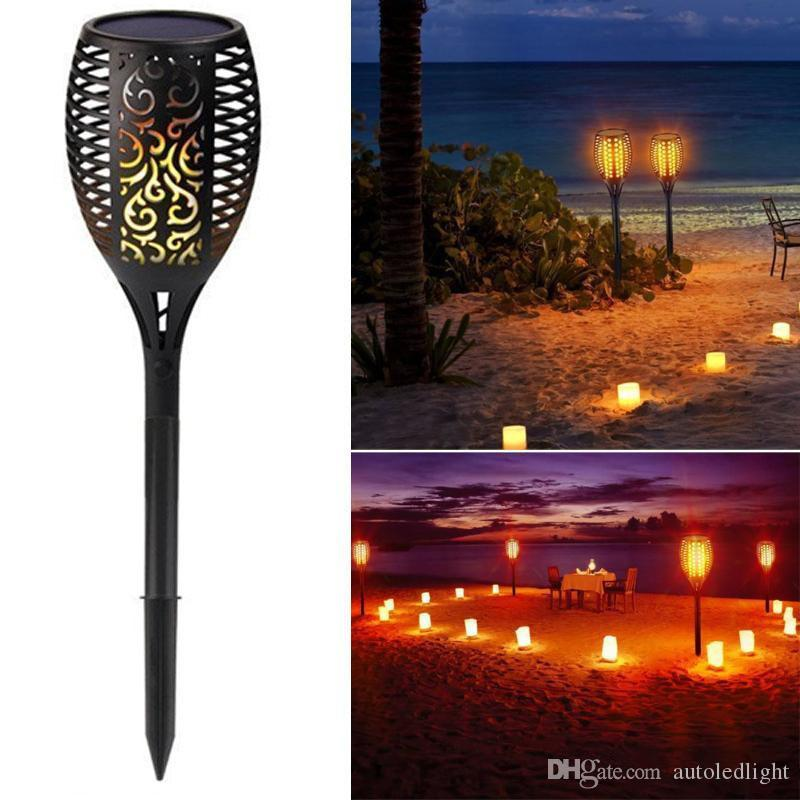 Solar Lamps Solar Torch Light Outdoor Lighting Waterproof Decoration Solar LED Torches Garden Lights with Flame Effect