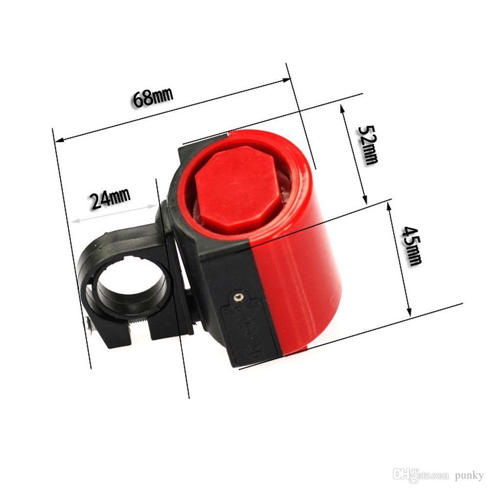 Großhandels-MTB-Straßen-Fahrrad-elektronische Klingel-Horn-Radfahrensirschsirene-Zusatz-Blau / Gelb / Schwarzes / Rot / Weiß geben Verschiffen frei