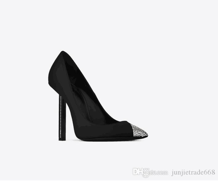 Fashion style 2018 new list Four Seasons luxury Crystal dress shoes high heel women Diamond toe head with the word sexy wedding shoes