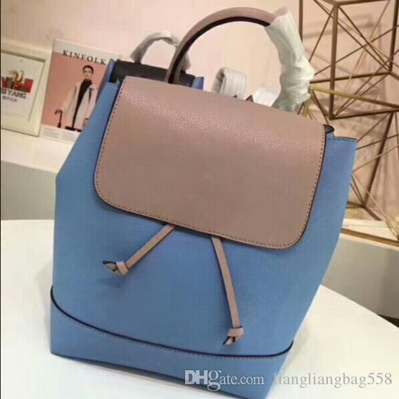 7be98dc2dd3f Free Mail 2018new Women S Double Shoulder Bag Real Cow Leather Litchi  Classic Schoolbag Men S Four Seasons Leisure Large Capacity Travel Bag  School Bags ...