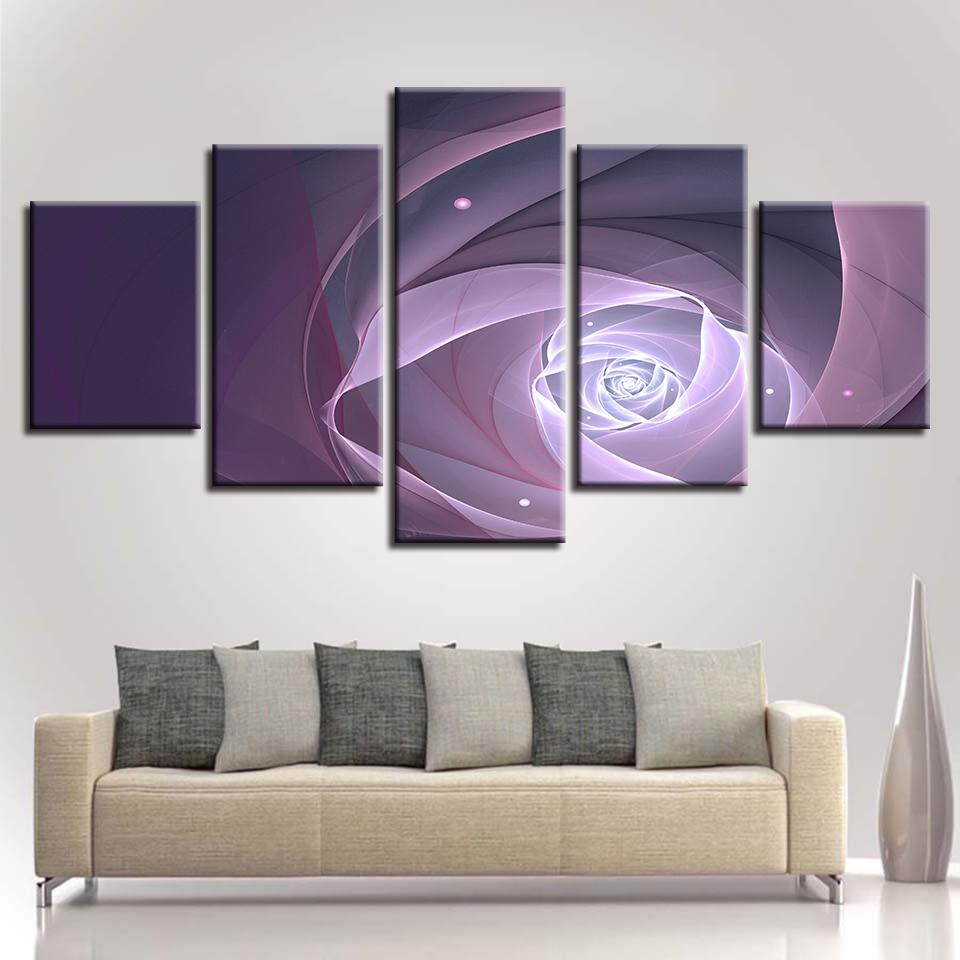 Modular Wall Art Canvas HD Prints Poster 5 Pieces Abstract Flowers Paintings Home Decor Living Room Landscape Pictures Framework