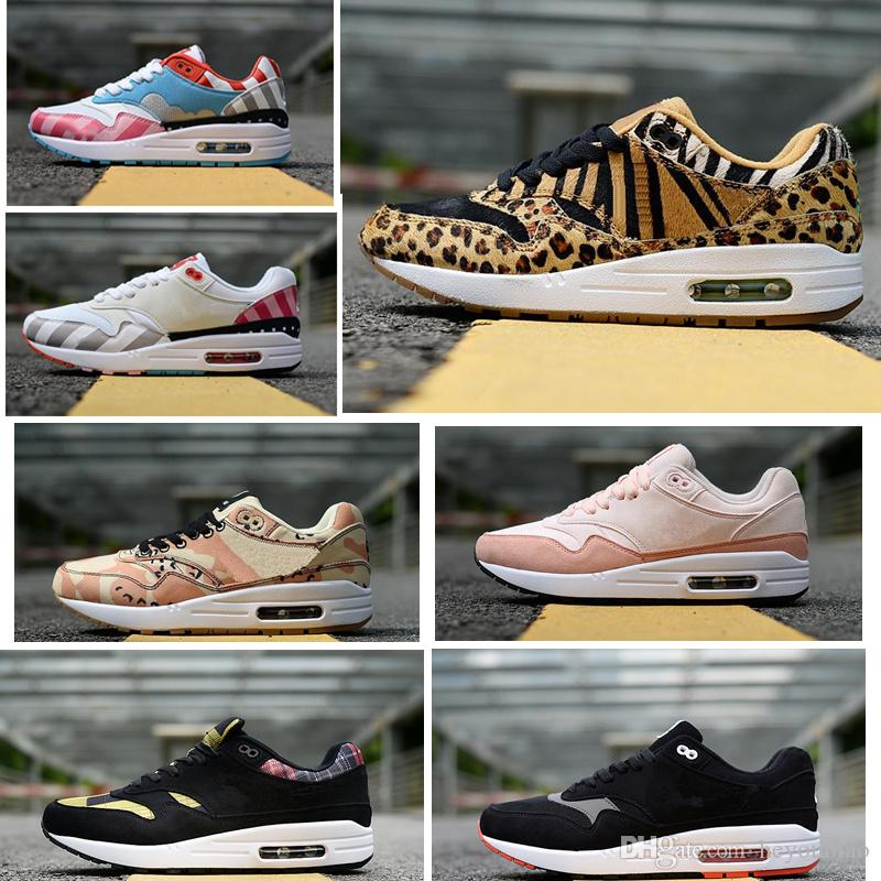 5ab34d6d3 ... 1 X 87 SE DLX ATMOS Women Mens Running Shoes Leopard Bred Floral Camo  Trainers Sneakers Running Sneakers Racing Shoes From Heyoubiao