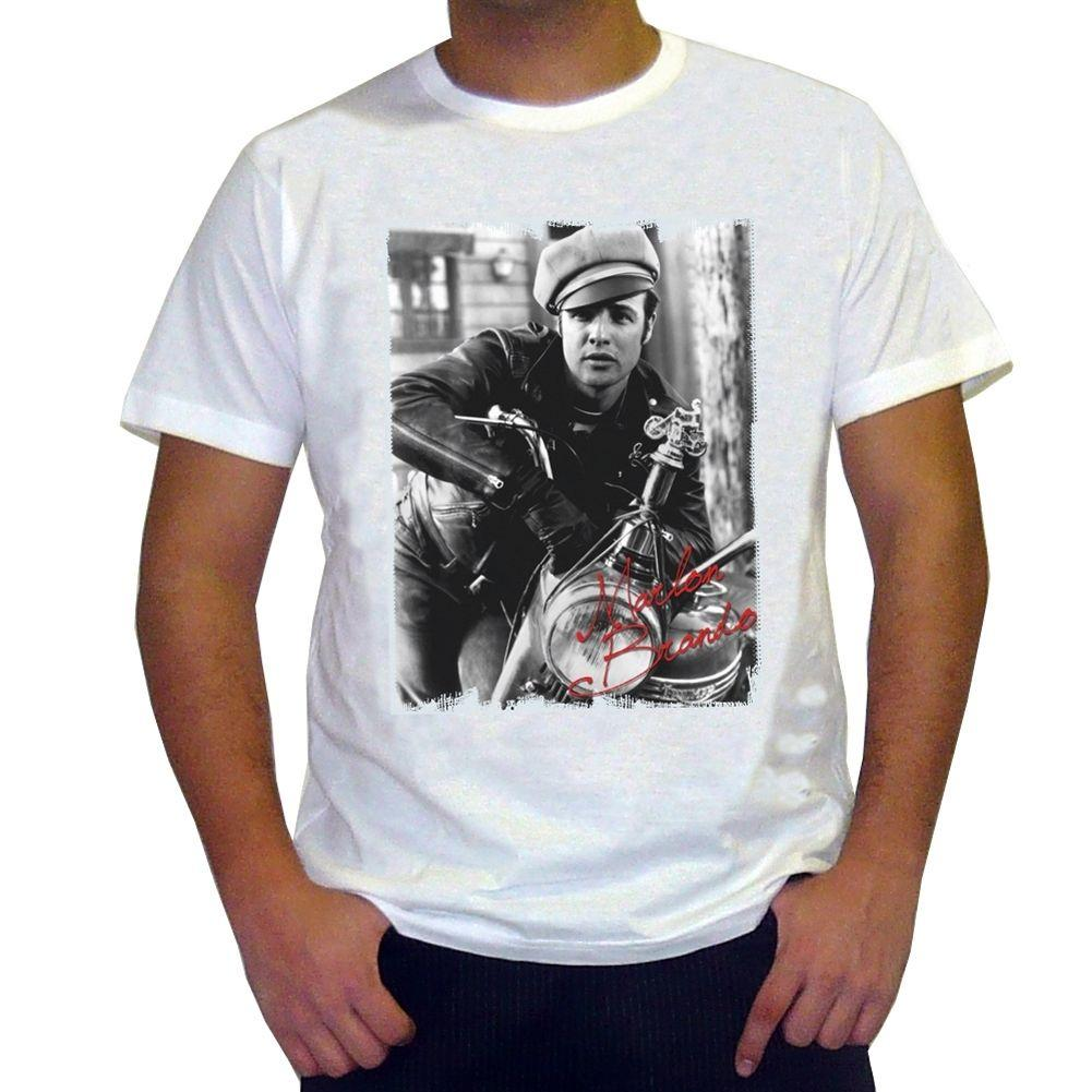 Marlon Brando: Men's T-shirt celebrity Casual Short Sleeve New Brand-Clothing top tee Kawaii Printed