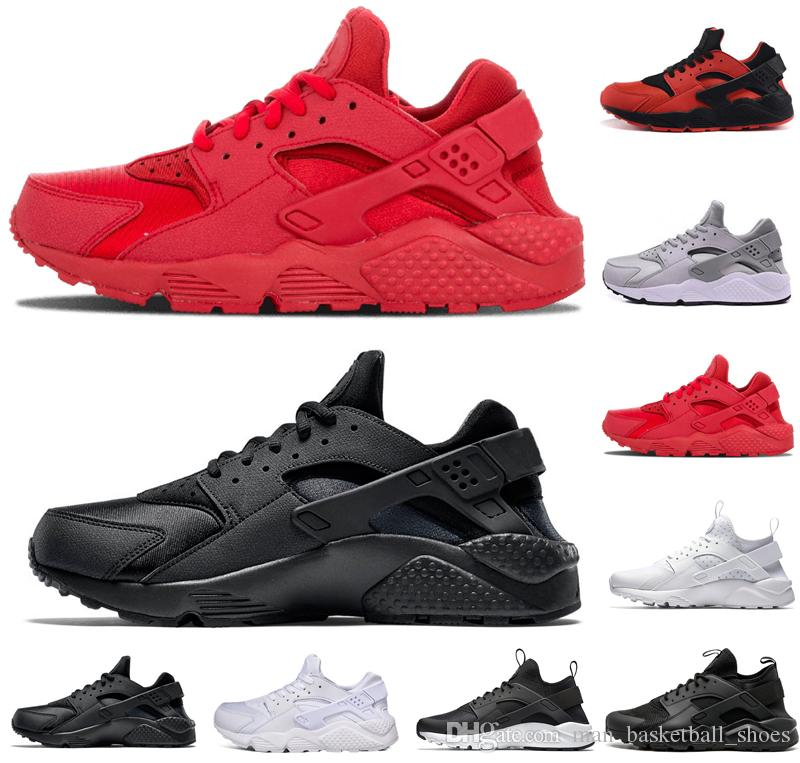 de2c5d1c865c Hot Sale Huarache Mens Women Running Shoes 1.0 4.0 Triple Black White All  Red Gray Gold Trainers Men Designer Shoes Sneakers US 5.5 11 Racing Shoes  Good ...