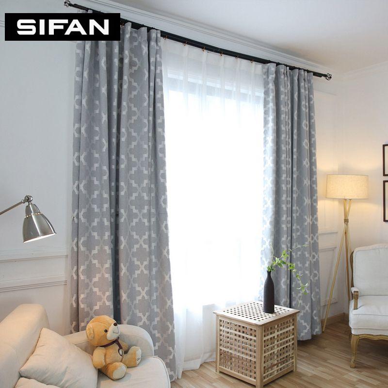 Moderne Vorhänge Wohnzimmer | Grosshandel Moderne Fenster Vorhange Dekoration Mode Stoffe Fur