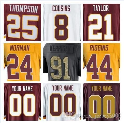 2018 Washington Alex Smith Redskins Jersey Ryan Kerrigan Sean Taylor ... 7c44464a6