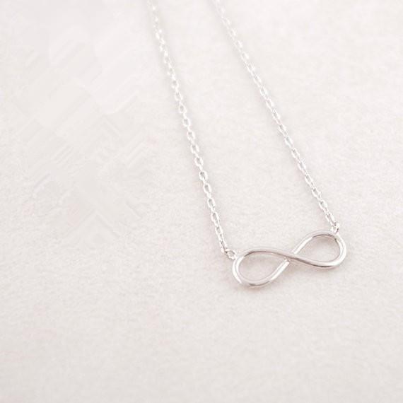 2016 Moda 18 k oro plateado Tiny Infinity collar colgante collar para mujeres regalo envío gratis venta al por mayor