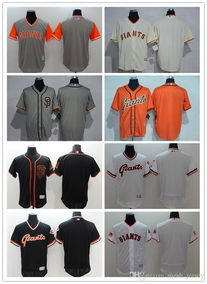 0b937d7b39f Custom Men Women Youth Majestic SF Giants Jersey  00 Any Your Name ...
