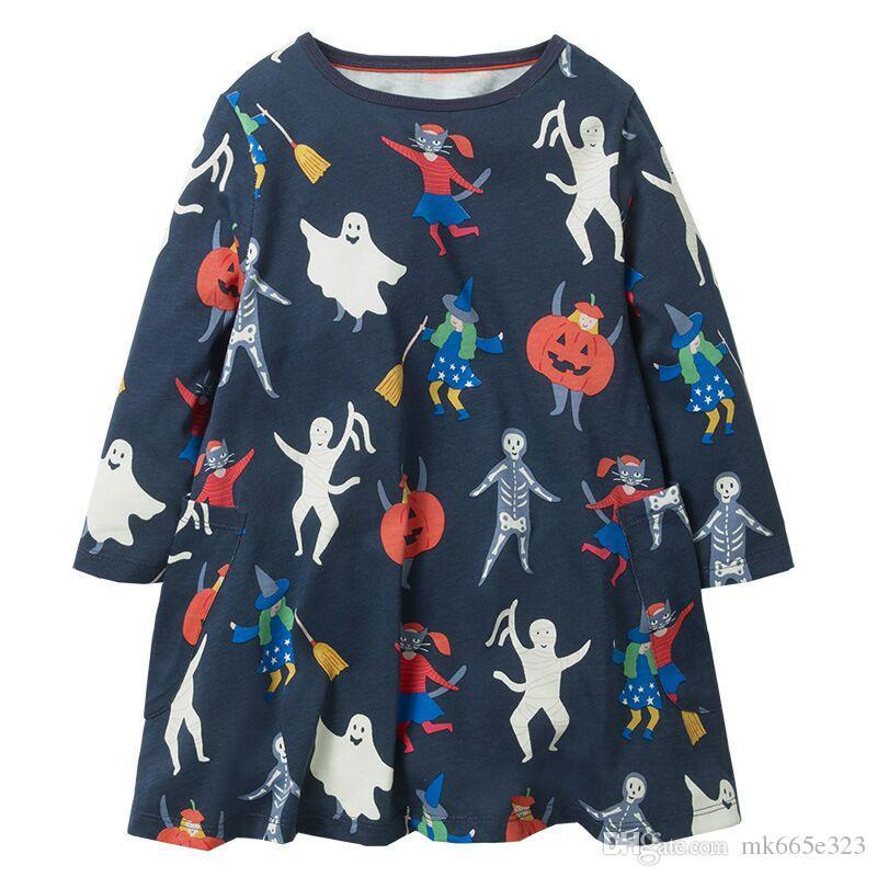 2eeeb45af6d Baby Girl Dress Halloween Ghost Pumpkin Dresses For Girls Sleeveless ...