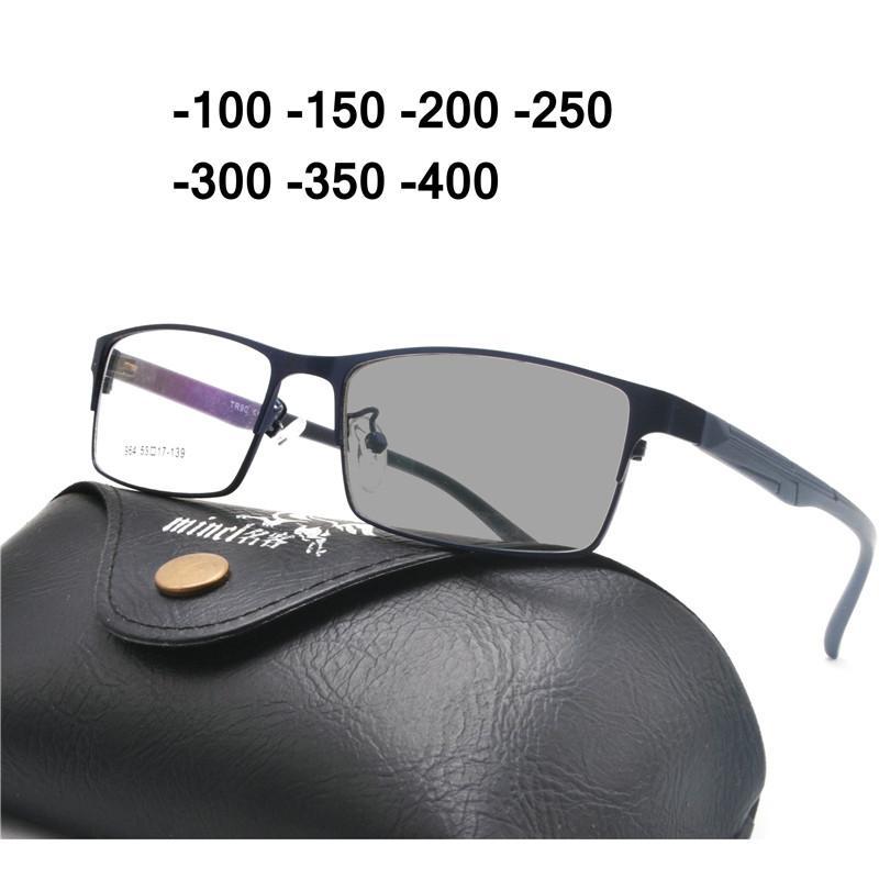381f41c10a Square Alloy Sun Photochromic Myopia Eyeglasses Optical Men Student  Finished Myopia Eyewear Prescription Glasses Frame NX Eyewear Frames Cheap  Eyewear ...