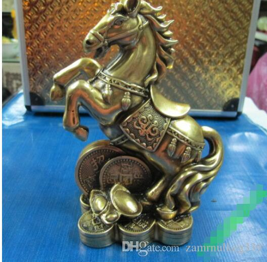 2019 75old Chinese Bronze Feng Shui Zodiac Year Horse Wealth