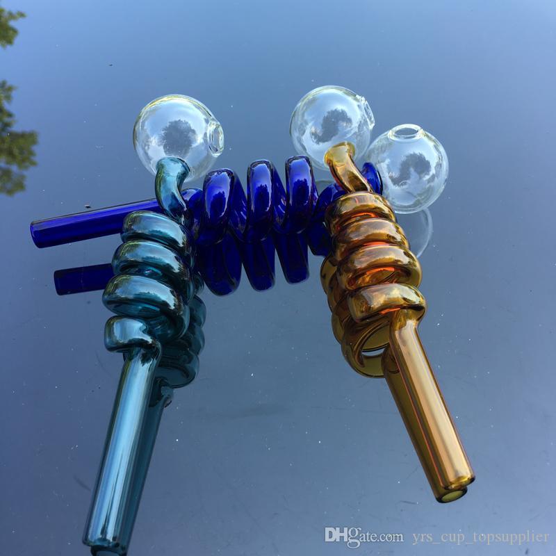 Grand verre brûleur à l'huile tuyau courbé verre brûleurs à l'huile 5.5 polegada 1.5 cm diamètre balle Balancer eau tuyau tuyaux de fumage