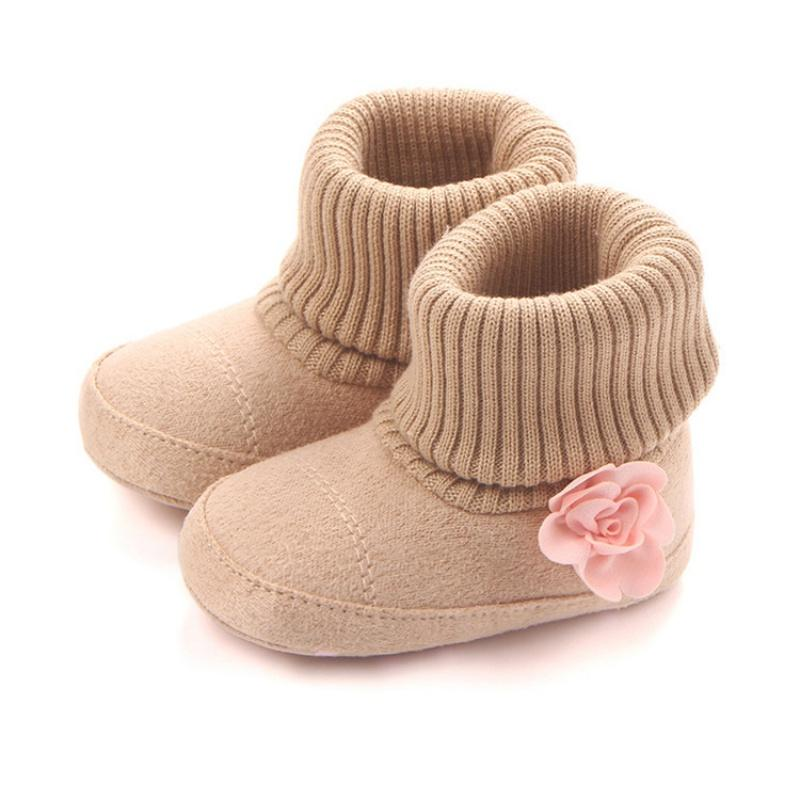 more photos df9b5 703ed Winter Warm Baby Shoes Autumn Pram First Walkers Kids Newborn Infant  Toddler Super Keep Warm Flower Boots