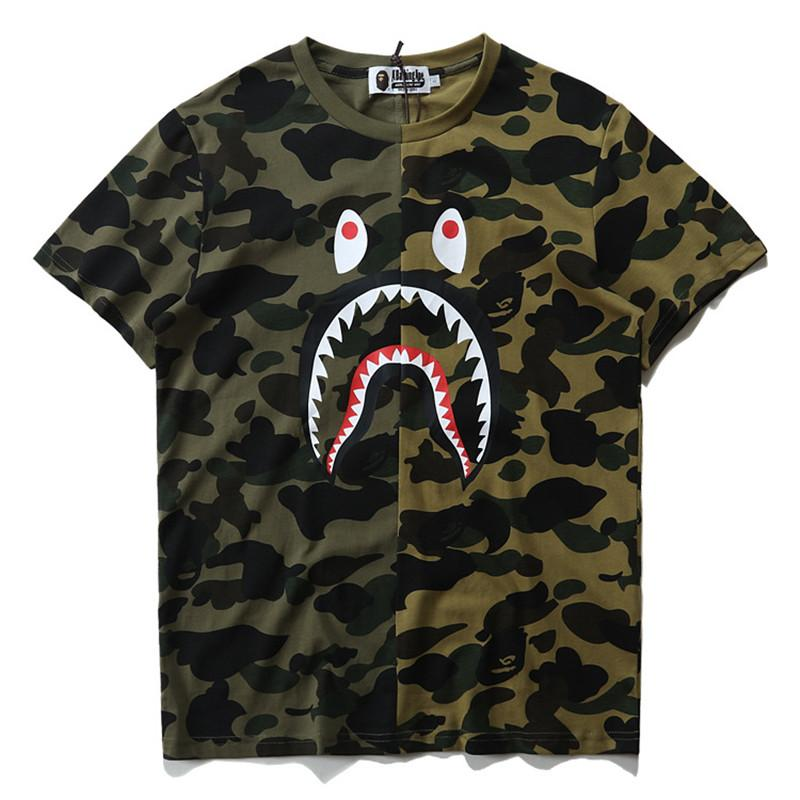 5d546c7f Summer Designer Luxury T Shirts For Men Tops Brand Shark Mouth Pattern Mens  Clothing Short Sleeve Tshirt Mens Tops Streetwear Fashion Tide Random T  Shirts ...