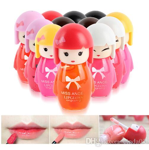 Cute Cartoon Lip Gloss Makeup Long Lasting Bright Lip Pen Lipstick Lip Rouge Random Delivery for Girl