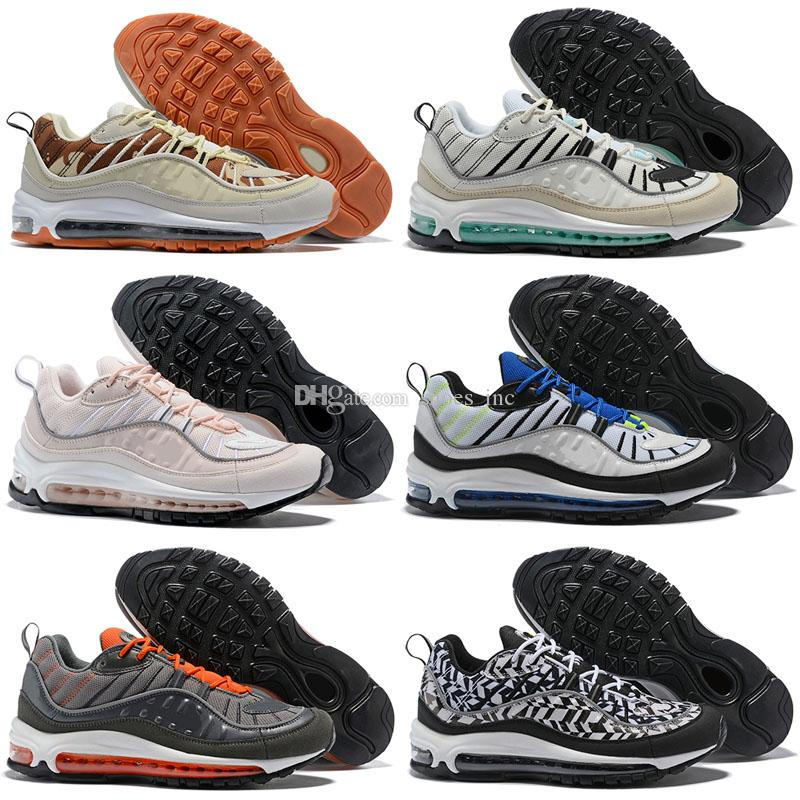 c343d88e1ed86b 2019 2018 Fashion 98 Sup Gundam Vibrant Sports Air Running Shoes Maxes Mens  98s Women Blue Red Black Designer Supre Trainers Sneakers Size 7 12 From ...