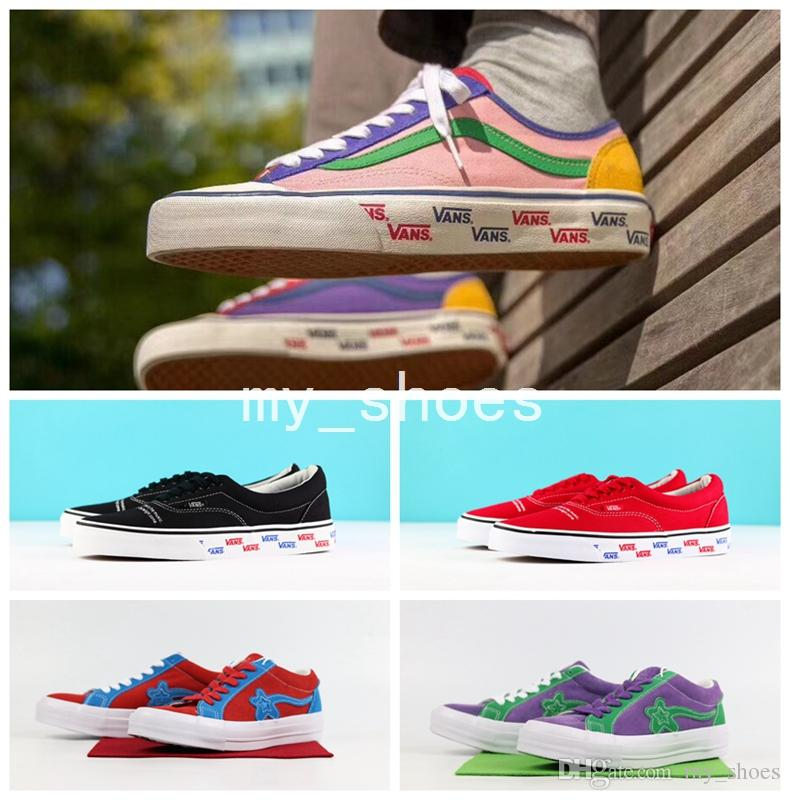 b444bee95123 2018 New 2018 Vault Canvas Undercover OG Era LX Temples Black Colorful Vault  Og Lx Era Undercover Jun Takahashi Red Fog Jerry Sneakers Shoes From  My shoes