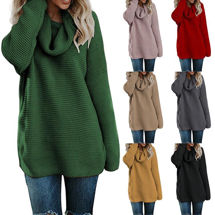 best website 50889 06dee Winter Pullover Frauen Pullover Kleid Damen Pullover Kleider Rollkragen  Weibliche Pullover Computer Gestrickte Pull Femme Plus Größe