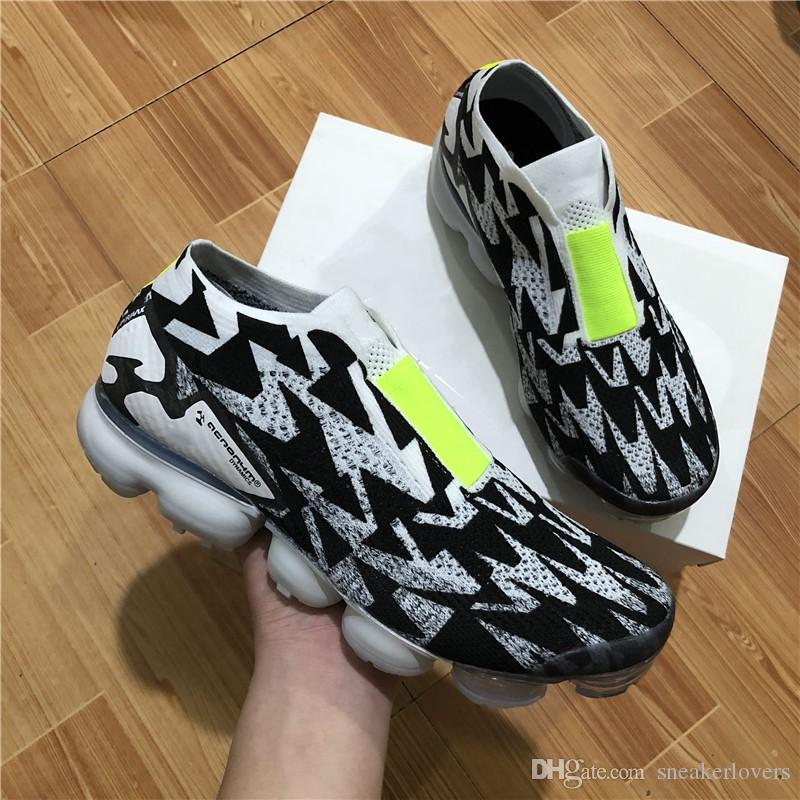 free shipping best seller cheap sale finishline 2018 New ACRONYM x VAPORMAX MOC 2 Black Green Men7women casual shoes For Sale Athletic Sneakers Free shipping H6WV3MMWq