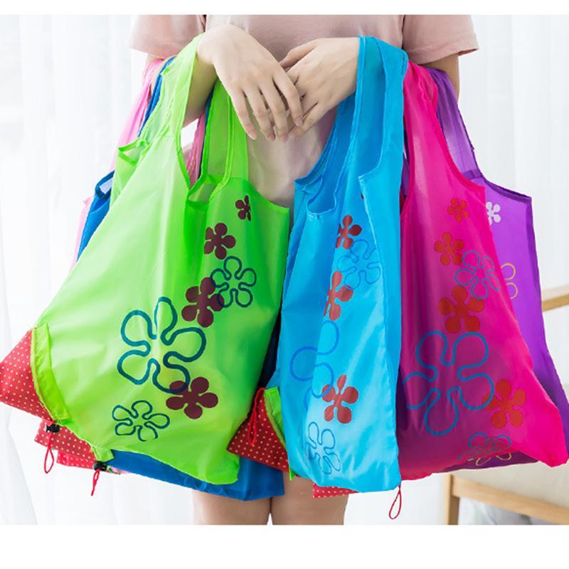 DINIWELL Nuova borsa da donna pieghevole pieghevole borse da donna pieghevole in poliestere riutilizzabile i